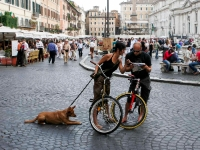 Cycling  0705272072 Rone, Piaza Navona. : Countries & Places, Cycling, Individuals, Italy, People, Rome