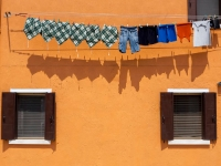 Colours  1007131034 Burano, Italy. : Buildings, Colours, Countries & Places, Italy, Laundry, Miscellaneous, Venice, Windows