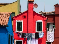 Colours  1007131046 Burano, Italy. : Buildings, Colours, Countries & Places, Italy, Laundry, Miscellaneous, Venice, Windows