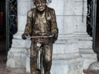 Cycling  1803211009 Amsterdam. Frozen smile; perfect living statue. : Amsterdam, Countries & Places, Cycling, The Netherlands