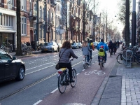 Cycling  1803211059 Amsterdam, Willemsparkweg. Cycling paths along the street. : Amsterdam, Countries & Places, Cycling, The Netherlands